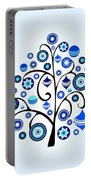 Blue Ornaments Portable Battery Charger