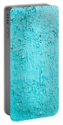 Blue Paint Background Grungy Cracked And Chipping Portable Battery Charger