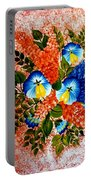 Blue Pansies Bouquet Portable Battery Charger