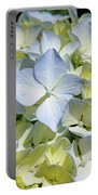 Blue Pastel Floral Art Prints Hydrangea Flowers Portable Battery Charger