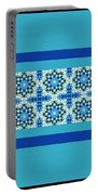 Blue Patchwork 2 Portable Battery Charger