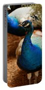 Blue Peacocks Portable Battery Charger