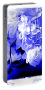 Blue Peony Portable Battery Charger
