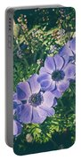 Blue Poppies Blooms Portable Battery Charger