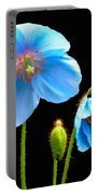Blue Poppy Flowers # 4 Portable Battery Charger
