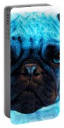 Blue - Pug Pop Art By Sharon Cummings Portable Battery Charger by Sharon Cummings