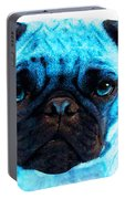 Blue - Pug Pop Art By Sharon Cummings Portable Battery Charger