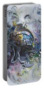 Blue Purple Abstract Movement Art Portable Battery Charger