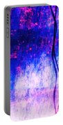 Blue Purple White Metal Portable Battery Charger
