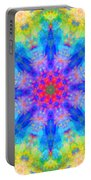 Blue Rainbow Star Mandala Portable Battery Charger