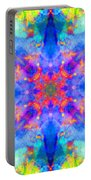 Blue Rainbow Star Portable Battery Charger