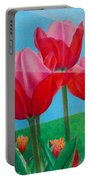 Blue Ray Tulips Portable Battery Charger