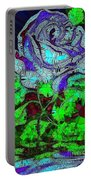 Blue Rose In Glass Portable Battery Charger