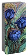 Blue Roses Portable Battery Charger