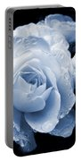 Blue Roses With Raindrops Portable Battery Charger