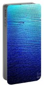 Blue Sand Abstract Portable Battery Charger