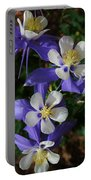 Blue Saphire Columbine Portable Battery Charger