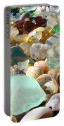Blue Seaglass Beach Art Prints Shells Agates Portable Battery Charger