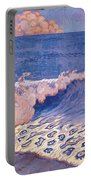 Blue Seascape Wave Effect Portable Battery Charger