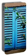 Blue Shuttered Window Portable Battery Charger