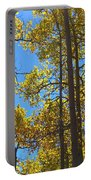Blue Skies And Golden Aspen Trees Portable Battery Charger