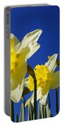 Blue Sky Spring Bright Daffodils Flowers Portable Battery Charger