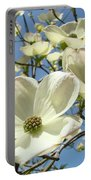 Blue Sky Spring White Dogwood Flowers Art Prints Portable Battery Charger