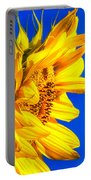 Blue Sky Sunshine Sunflower Portable Battery Charger