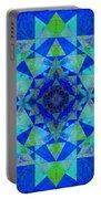 Blue Sri Yantra Variation Portable Battery Charger