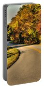 Blue Star Highway In Fall Portable Battery Charger