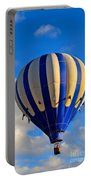 Blue Stripped Hot Air Balloon Portable Battery Charger