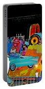 Blue Suede Shoes Posterized Portable Battery Charger