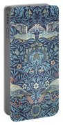 Blue Tapestry Portable Battery Charger by William Morris