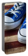 Blue Tennis Shoes And Baseball Portable Battery Charger