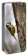 Blue Tit Searching Home Portable Battery Charger