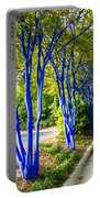 Blue Trunked Trees 2 Portable Battery Charger