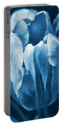 Blue Tulip Flowers Portable Battery Charger