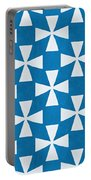 Blue Twirl Portable Battery Charger by Linda Woods