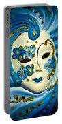 Blue Venetian Mask Portable Battery Charger