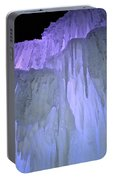 Blue Violet Ice Mountain Portable Battery Charger
