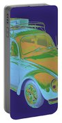Blue Volkswagen Beetle Punch Buggy Modern Art Portable Battery Charger