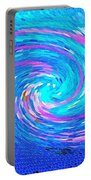Blue Vortex Abstract 2 Intense Portable Battery Charger