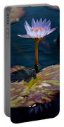 Blue Water Lily Portable Battery Charger