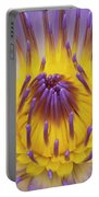 Blue Water Lily Portable Battery Charger by Heiko Koehrer-Wagner