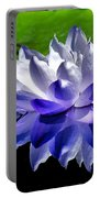 Blue Water Lily Reflection Portable Battery Charger