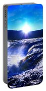 Blue Waterfall Portable Battery Charger