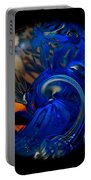 Blue Wave Swirl Portable Battery Charger
