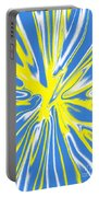 Blue Yellow White Swirl Portable Battery Charger