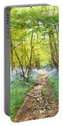 Bluebell Wood Watercolour Portable Battery Charger