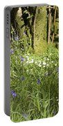Bluebells And Greater Stitchwort Spring  Boot Eskdale Cumbria England Portable Battery Charger